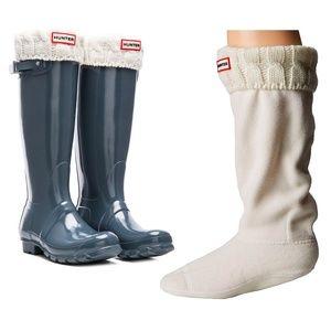Hunter Boots Tall  White Knitted Hunter Boot Socks